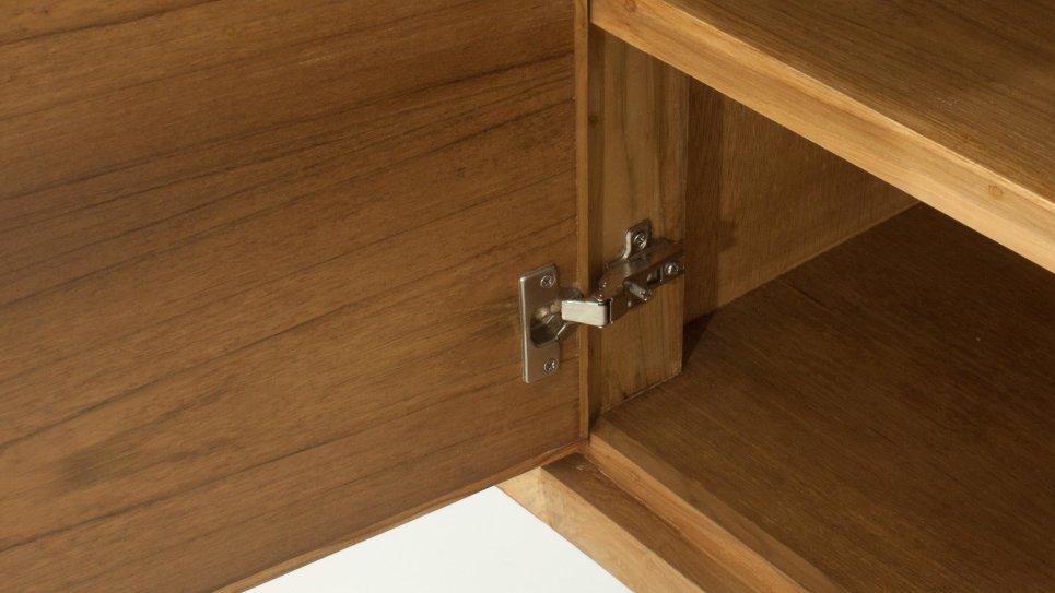 Buffet en teck massif 2 portes et 3 tiroirs - FIFTEES