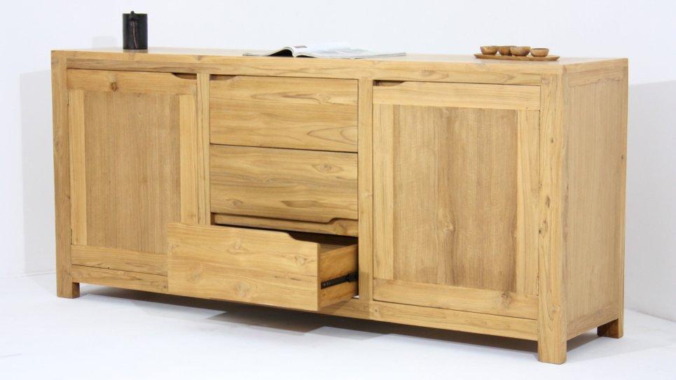 Buffet en teck massif 2 portes et 3 tiroirs - OCHA
