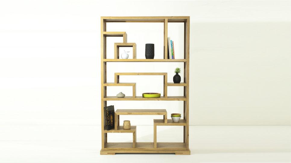 Meuble étagère bibliothèque en teck massif - ZEN