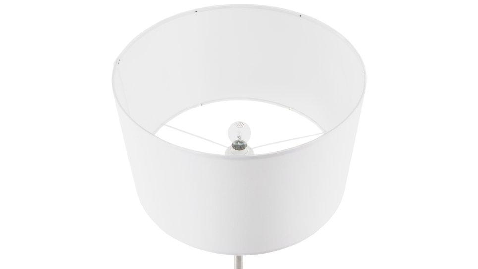 Lampadaire design abat-jour Blanc pied réglable en hauteur - LIV