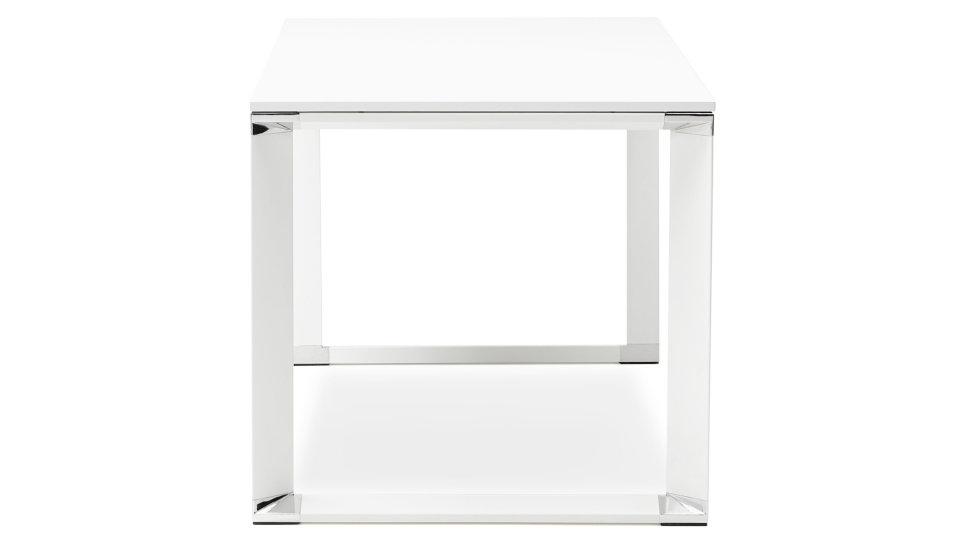Bureau droit plateau 160 x 80 cm bois blanc - Haumea