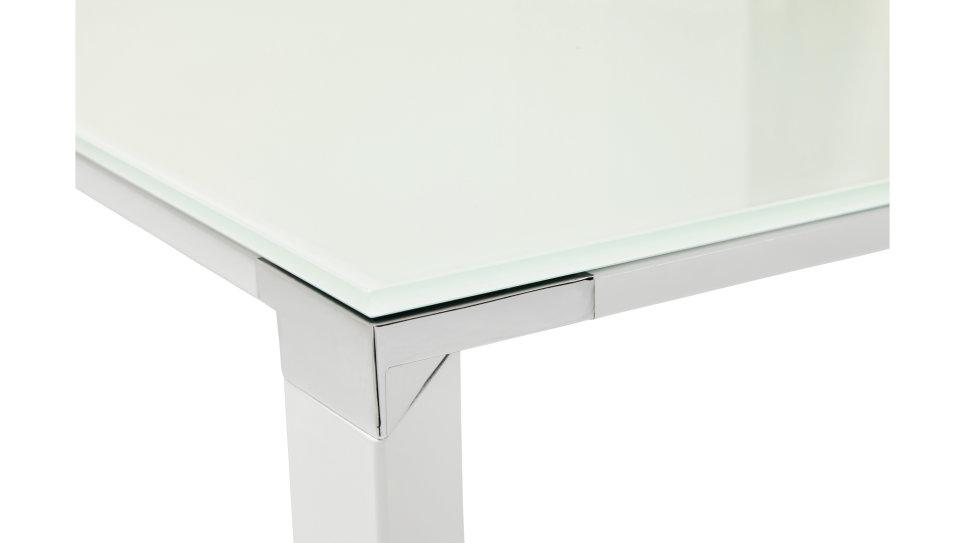 Bureau droit plateau cm verre blanc haumea