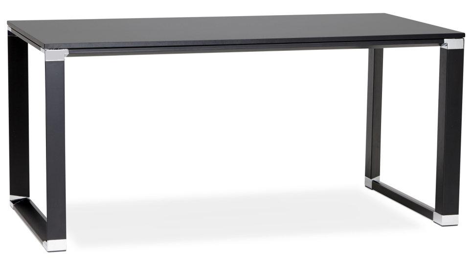 Bureau droit plateau 160 x 80 cm bois noir - Haumea