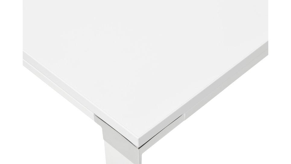 Bureau d'angle plateau bois blanc - Haumea