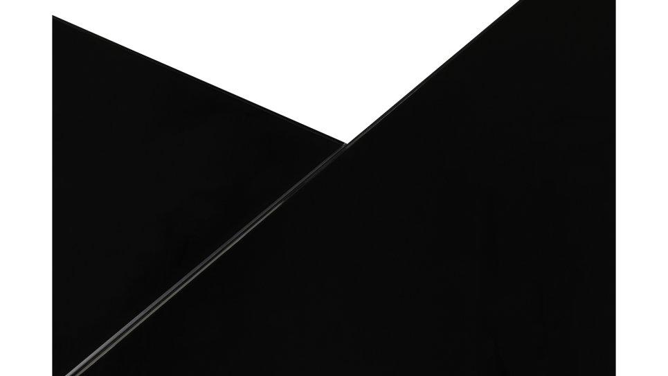 Bureau d'angle plateau verre noir - Haumea