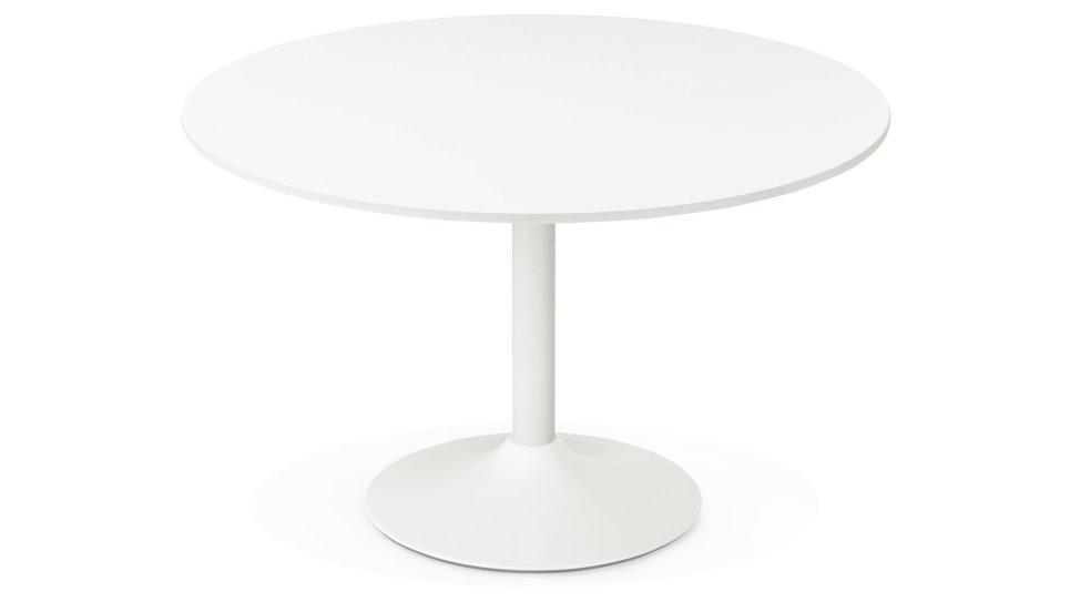 Table ronde D120 cm Blanche - Denise