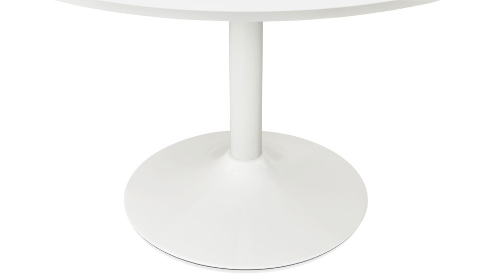 Table ronde D90 cm Blanche - Denise