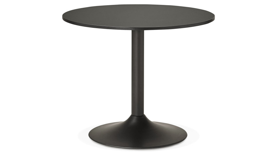Table ronde D90 cm Noire - Denise