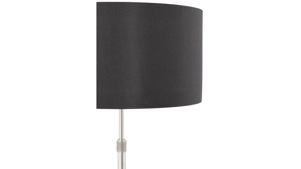 Lampe design abat-jour noir pied réglable en hauteur - LIV