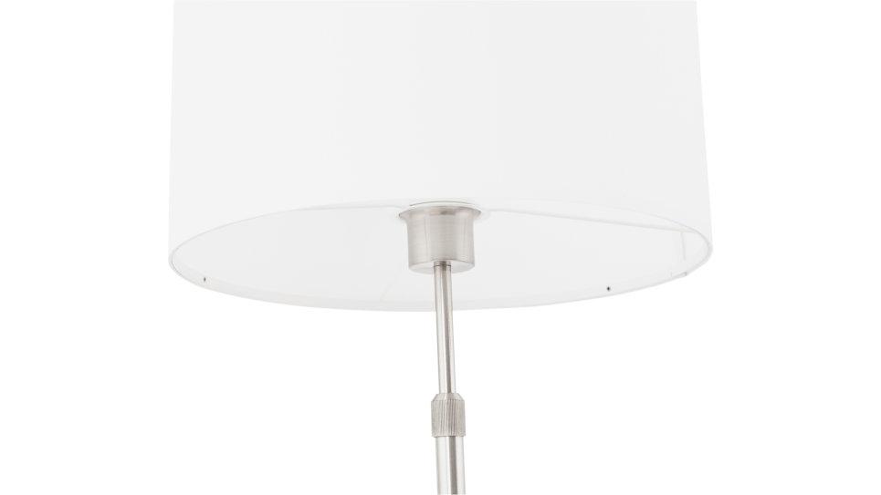 Lampe design abat-jour Blanc pied réglable en hauteur - LIV