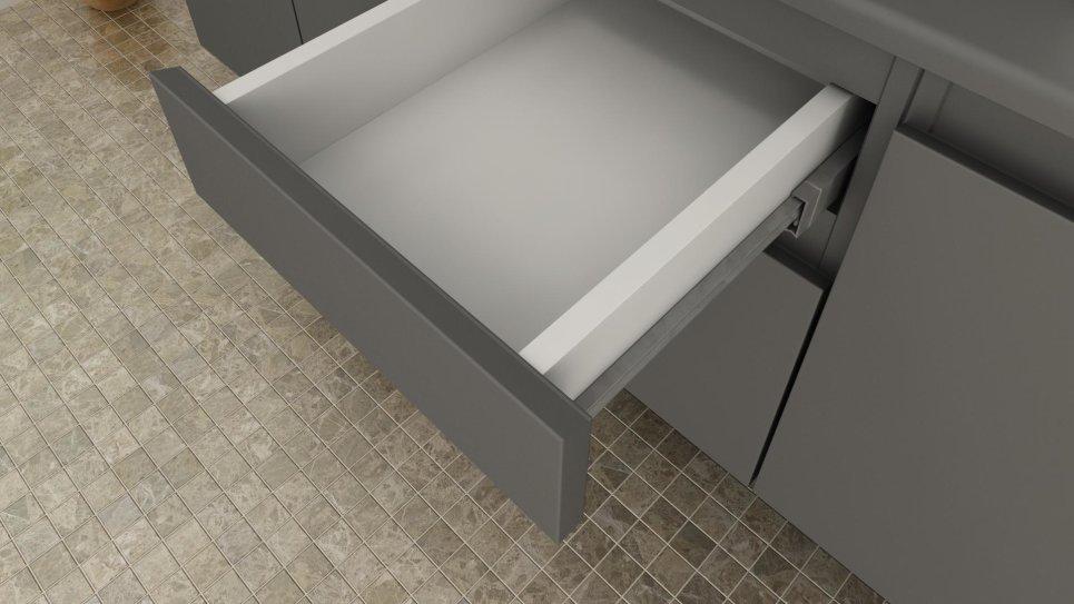 Ensemble de salle de bain gris mat - Cina