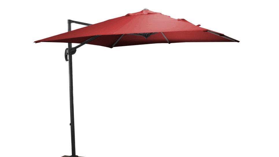 Parasol déporté Rouge 250 x 250 cm - ROMA