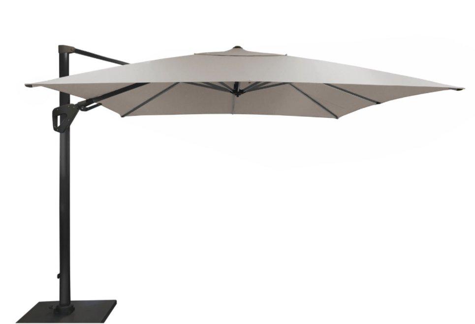 Parasol déporté Orientable 300 x 300 cm toile Sunbrella beige - SONE