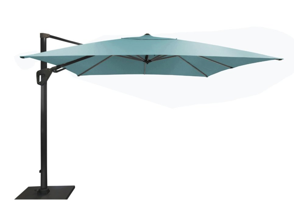 Parasol déporté Orientable 300 x 300 cm toile Sunbrella bleu - SONE
