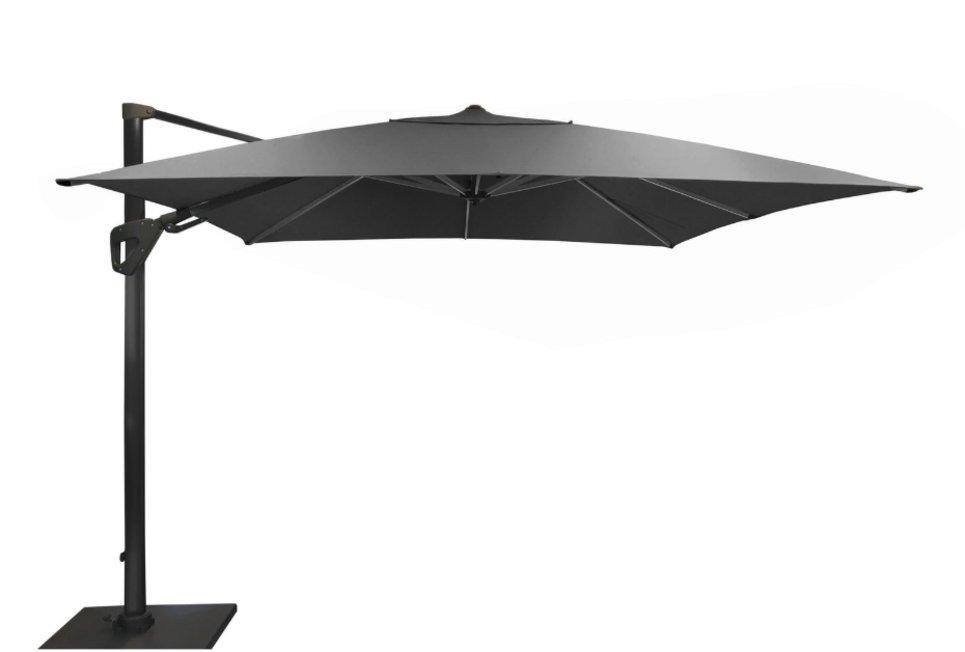 Parasol déporté Orientable 300 x 300 cm toile Sunbrella gris - SONE