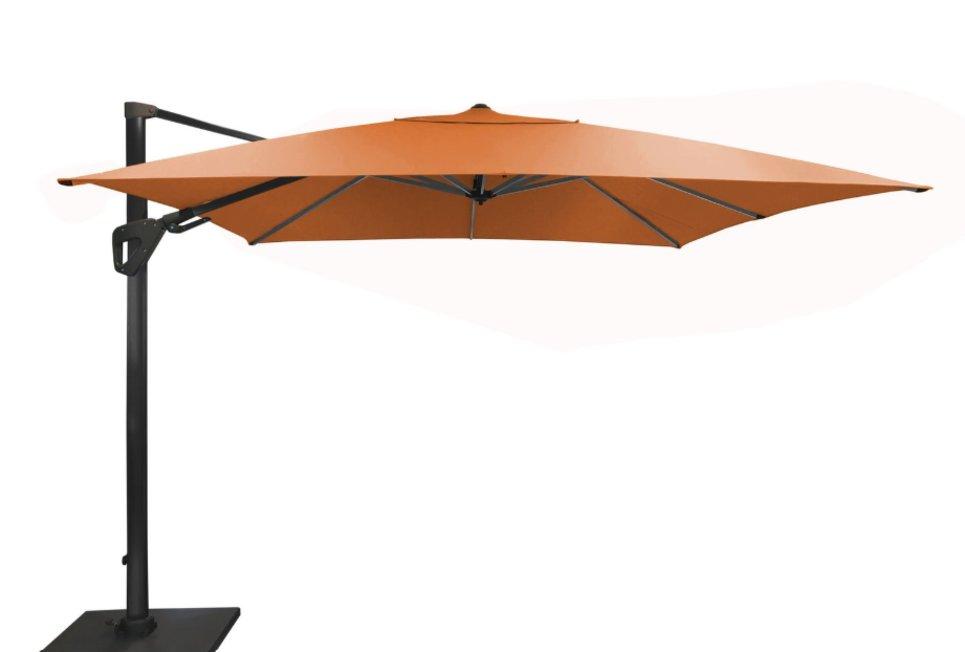 Parasol déporté Orientable 300 x 300 cm toile Sunbrella orange - SONE
