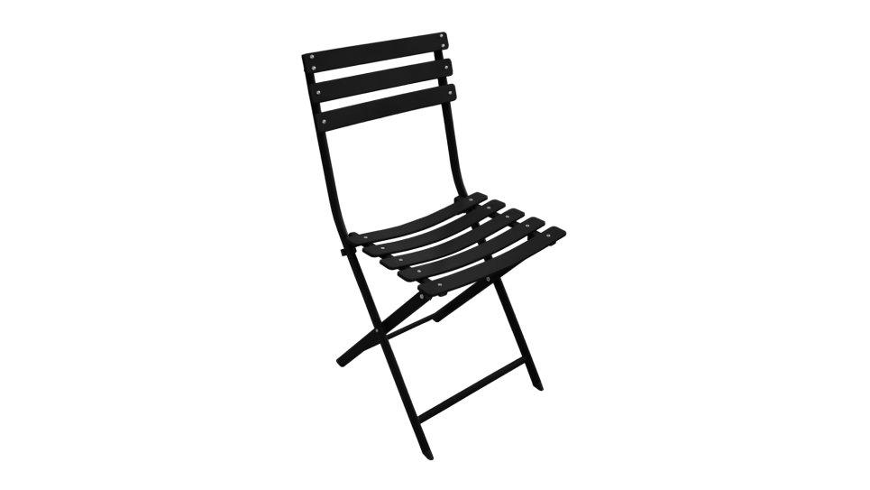 Chaise pliante Noire - NONZA