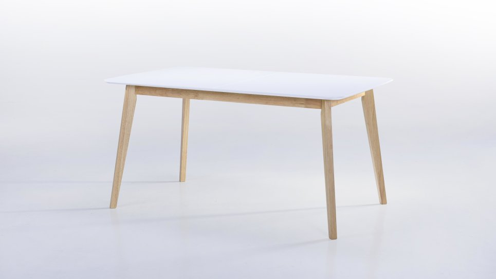 Table extensible plateau blanc 6/8 places - ALIS