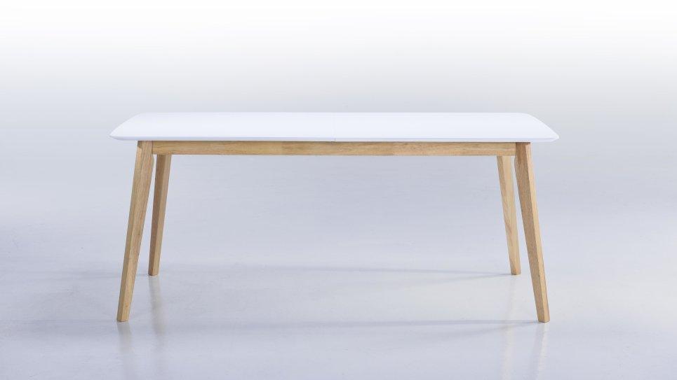 Table extensible GM plateau blanc 8/12 personnes - ALIS
