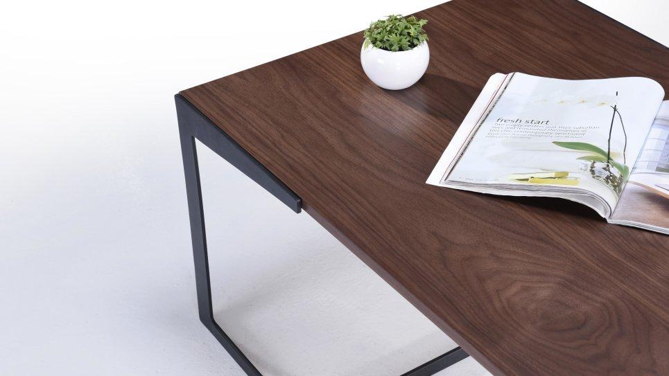 Table basse moderne plateau noyer - FUZZ
