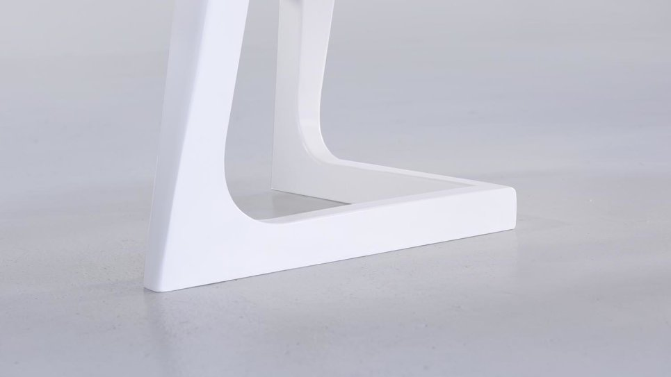 Table basse plateau chêne pieds blanc - STORM