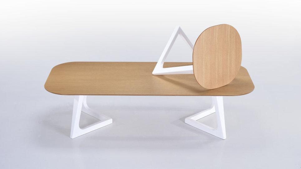 Table d'appoint plateau chêne - STORM