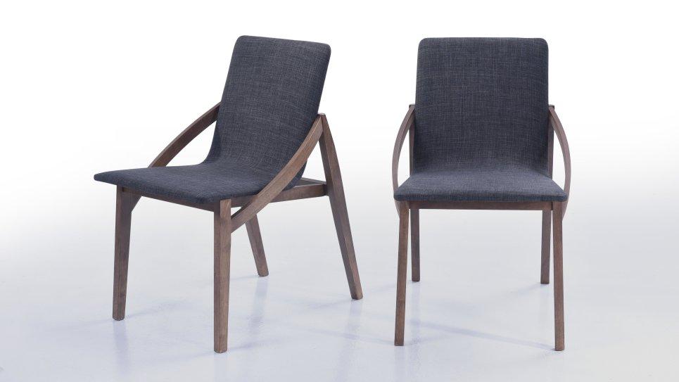 Table Moderne 180cm Plateau Noyer/Pieds Noir