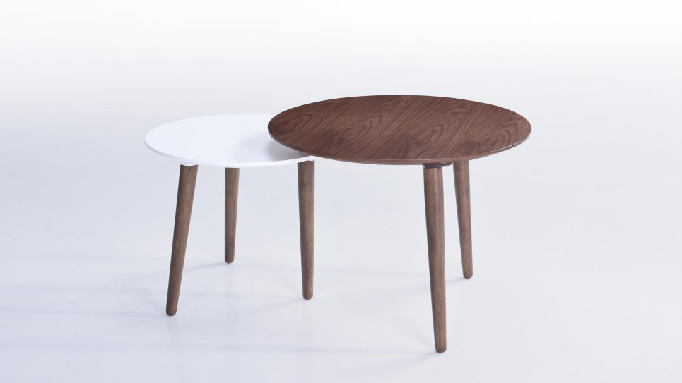 Table d'appoint noyer - TWIN