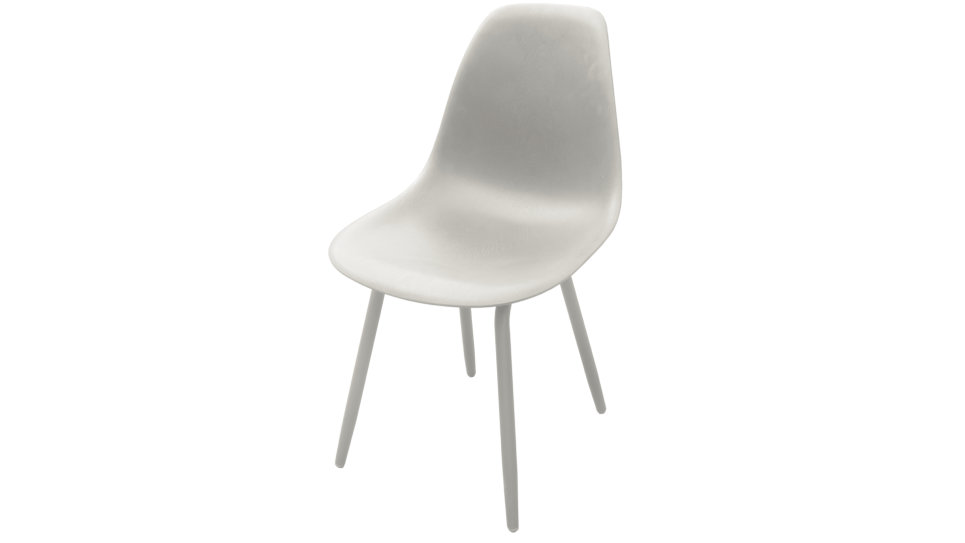 Lot de 4 Chaises design Blanche - MOSS