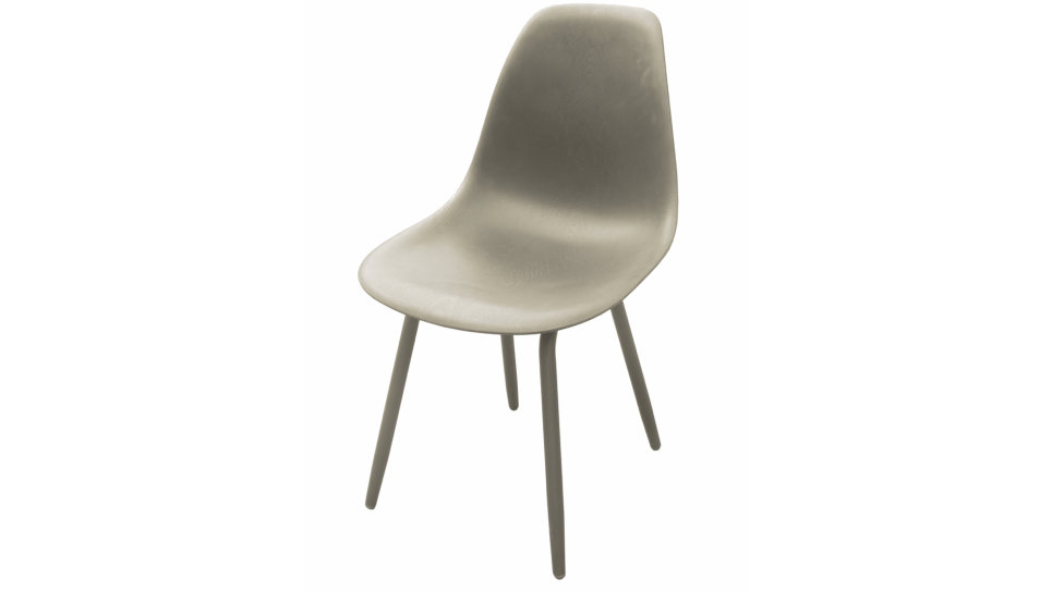 Lot de 4 Chaises design Taupe - MOSS
