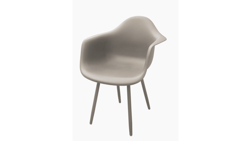 Lot de 4 Fauteuils design Taupe - MOSS