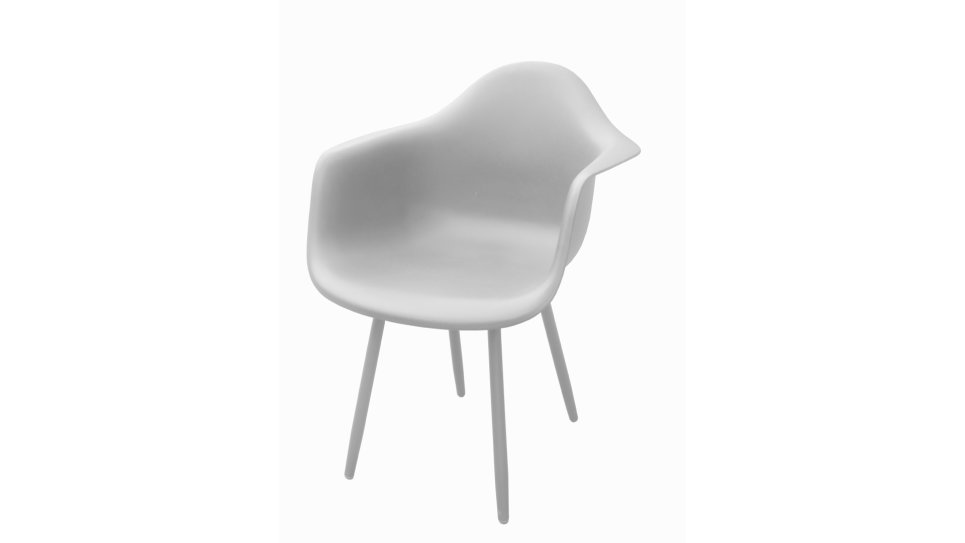 Lot de 4 Fauteuils design Blancs - MOSS