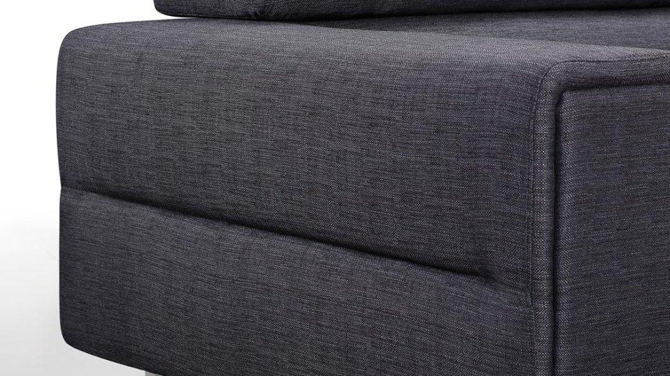 canap design gris chablis en tissu fixe 3 places avec t ti res r glables. Black Bedroom Furniture Sets. Home Design Ideas
