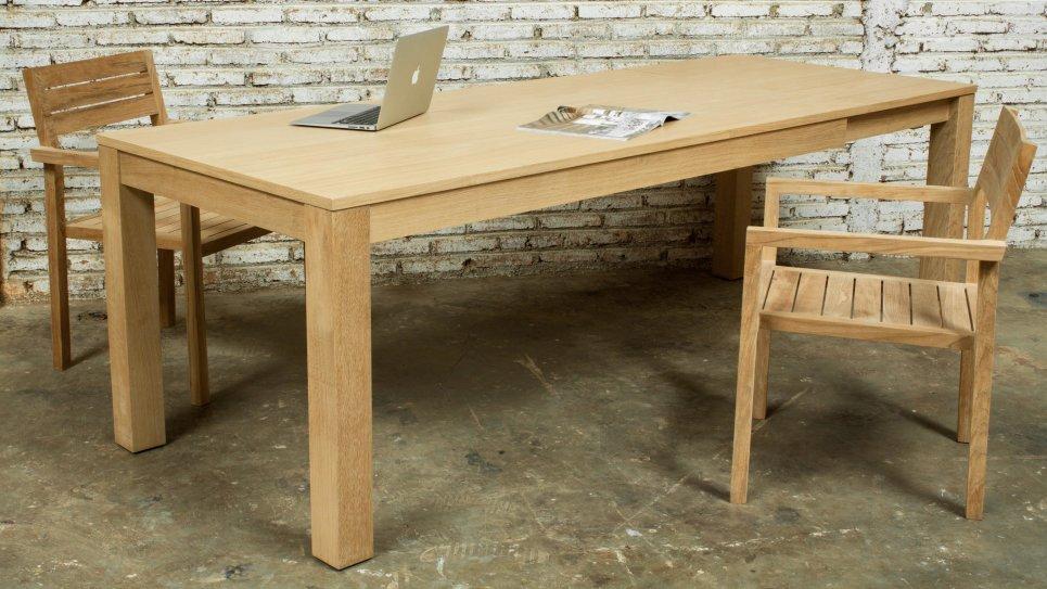 table extensible en ch ne massif 8 10 personnes kubico. Black Bedroom Furniture Sets. Home Design Ideas
