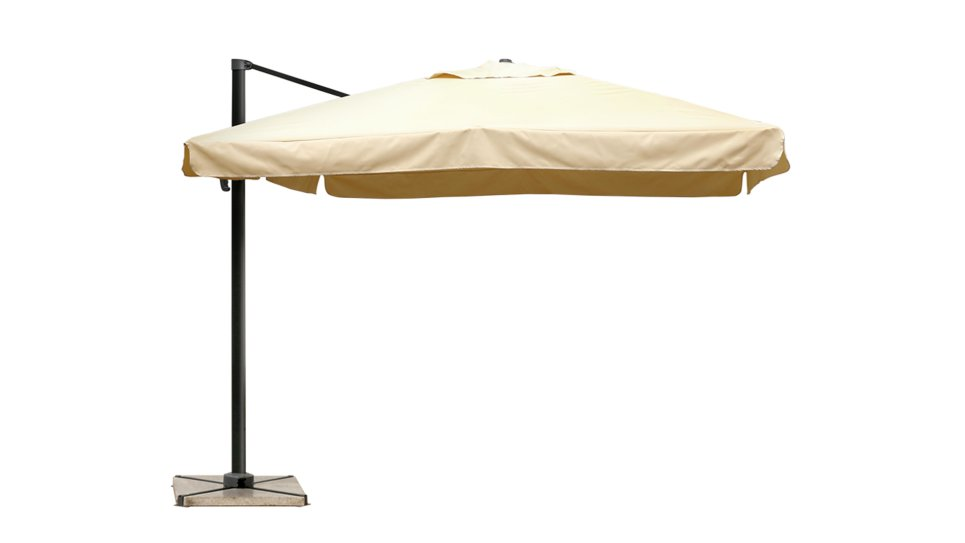 parasol d port 3x3 sable upf 50 avec flap nap. Black Bedroom Furniture Sets. Home Design Ideas