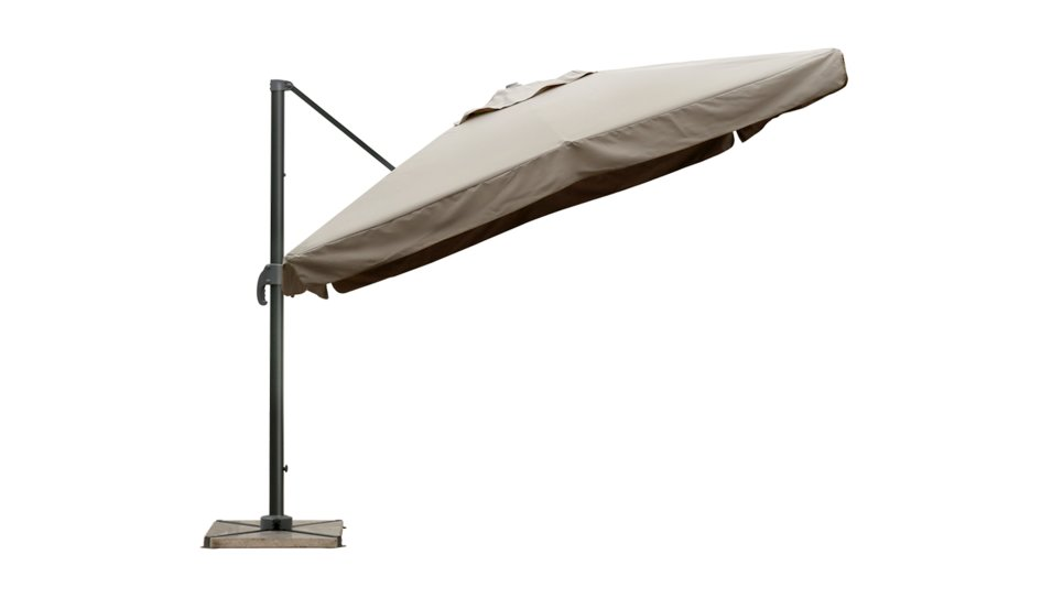 parasol d port 3x3 taupe upf 50 avec flap nap. Black Bedroom Furniture Sets. Home Design Ideas