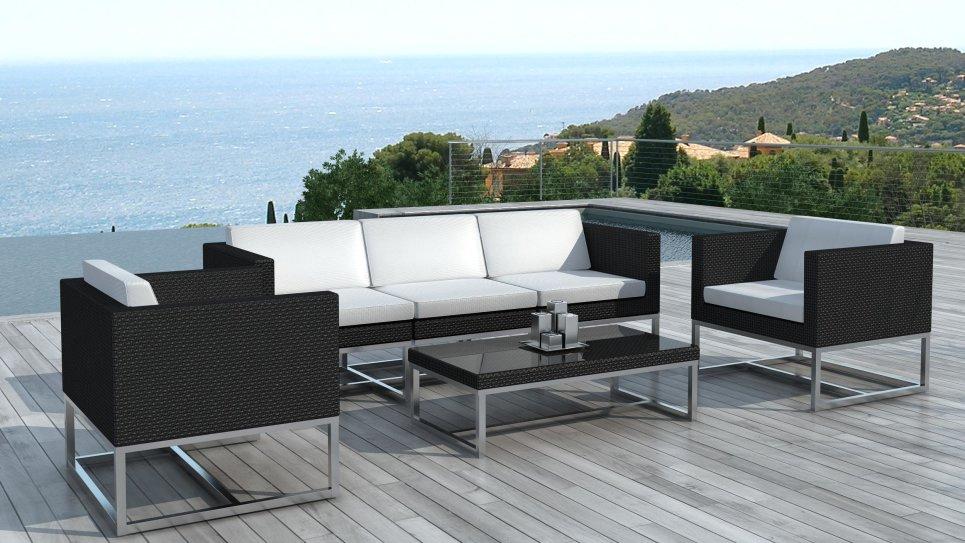 salon de jardin au design contemporain acapulco en r sine. Black Bedroom Furniture Sets. Home Design Ideas