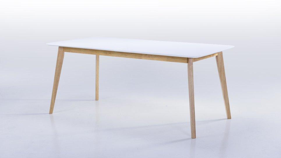 Admirable Table extensible GM plateau blanc 8/12 personnes - ALIS UV-44