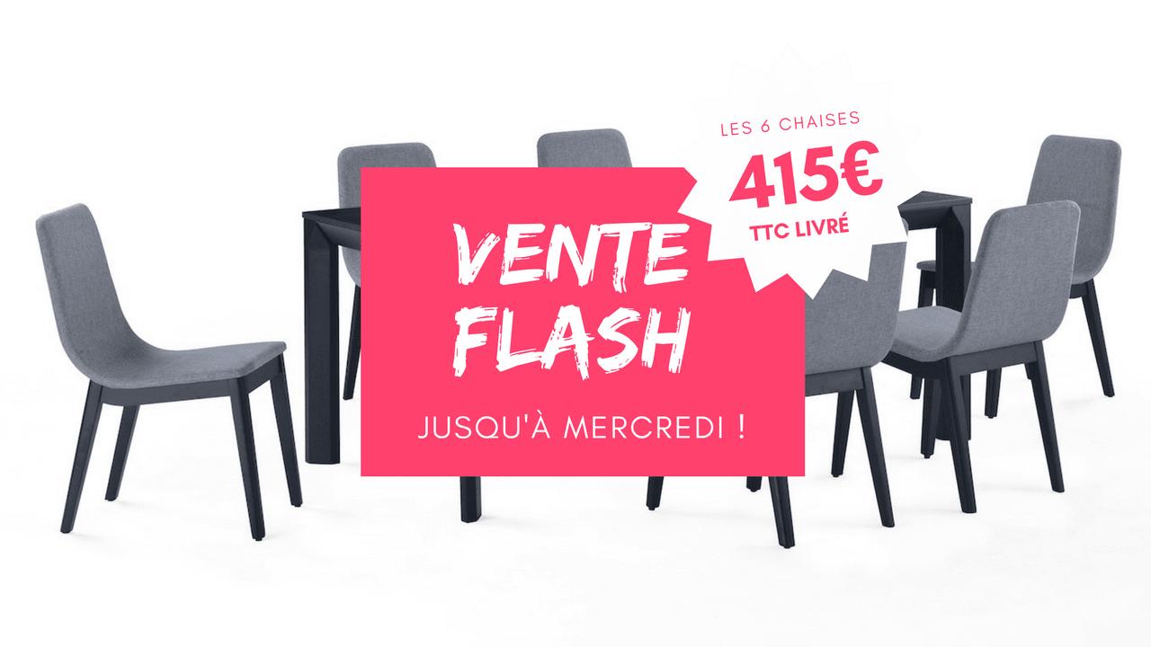 Vente flash - Lot de 6 chaises FELICIO