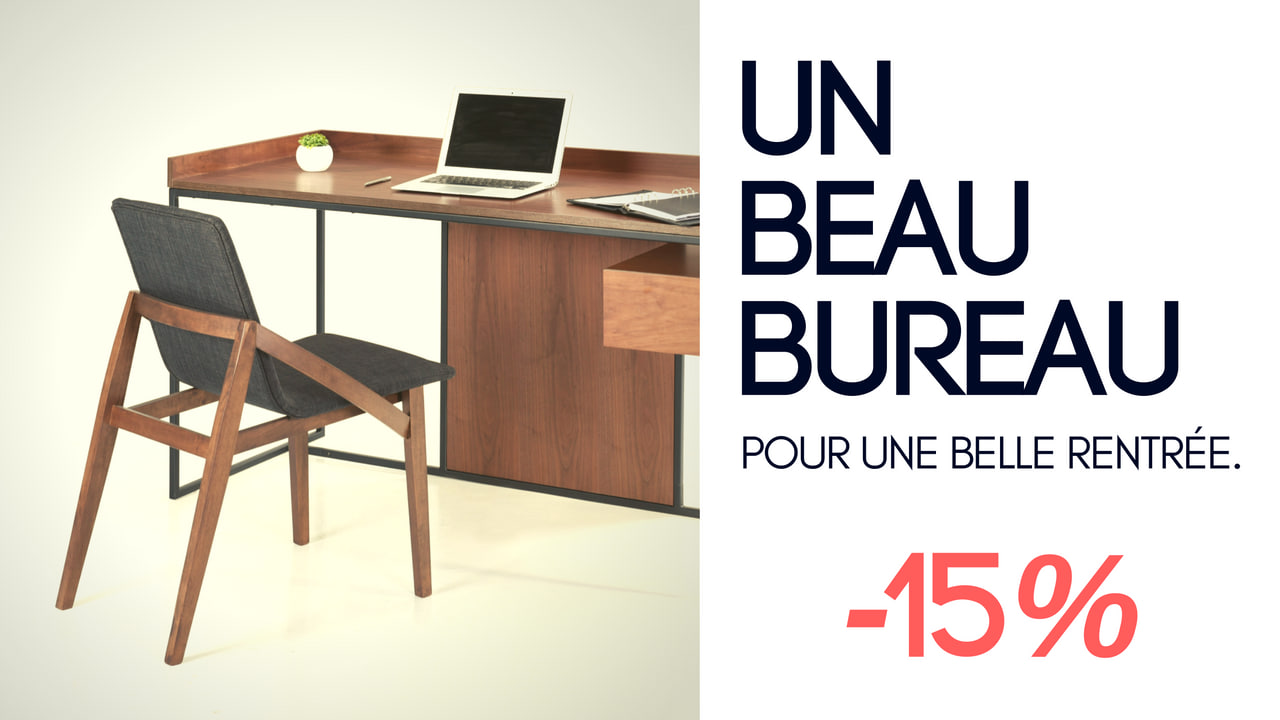 Bureaux : promotion spéciale à -15% pendant 15 jours