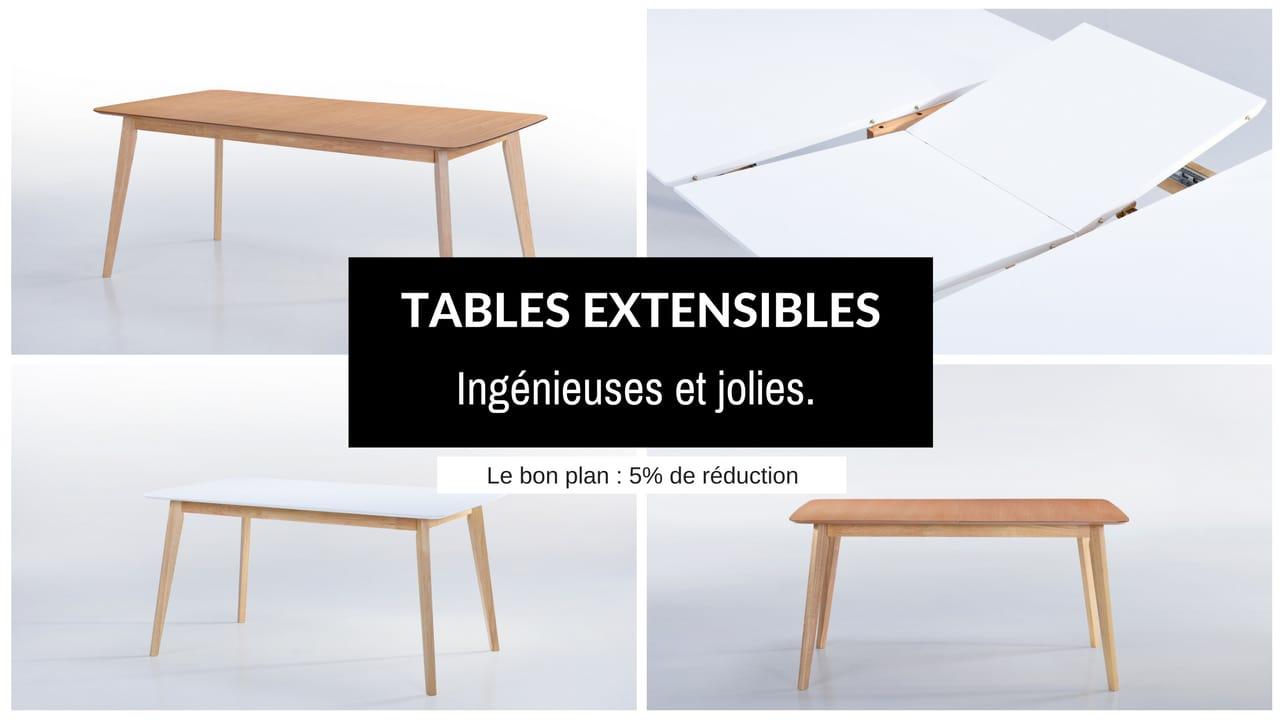 Tables extensibles - 5% de réduction