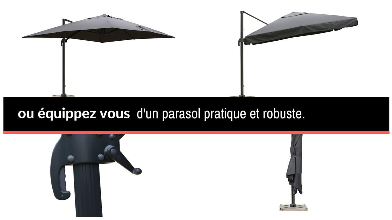 Parasol - Préparez votre terrasse
