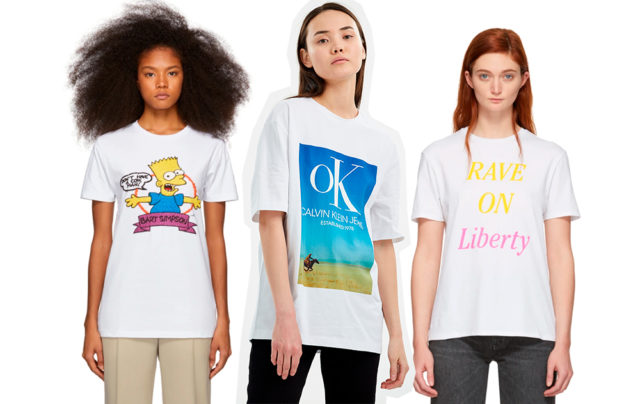 35 модных футболок с принтом на весну