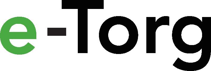 Logoen til e-Torg, linker til startsiden. Grafikk.