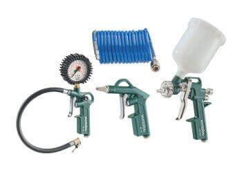 Druckluft Ausblaspistole 3 Düsen 25mm 100mm 200mm Druckluftpistole Werkzeug Set