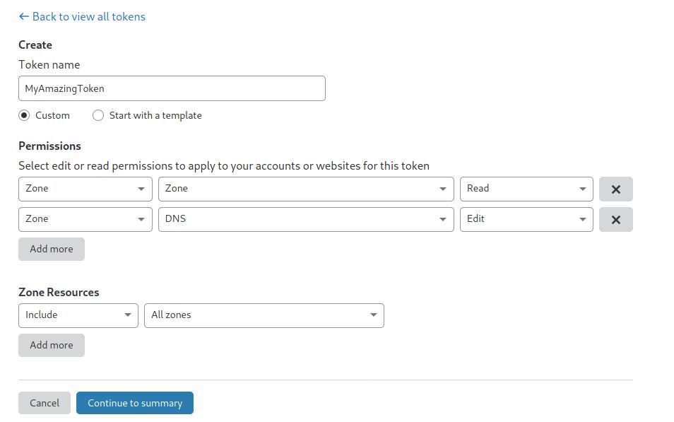 Cloudflare API permission settings