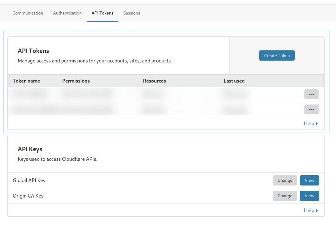 Cloudflare API token path