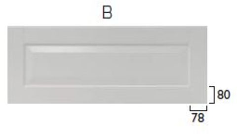 Röros Front till kyllåda front B 89,6 x 34,8 MDF