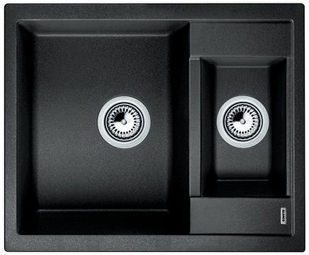 BLANCO METRA 6 Antracit UX Vä, Underlimmad i laminat/corestone/kompaktlaminat