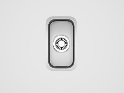 Kitchen Products - sinks - Carron Zeta Small Half Bowl Sink - magnet